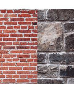 Lastolite 5711 Urban Collapsible 1.5 x 2.1m - Red Brick/Grey Stone