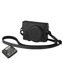 Panasonic DMW-LX15KIT Case and Battery Kit for Lumix LX15 - Black
