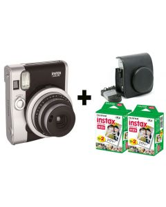 Fujifilm Instax Mini 90 NEO + 40 Shots + Vintage Case